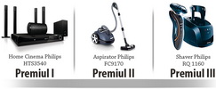 Castiga un sistem home cinema Philips, un aspirator Philips si un aparat de ras Philips