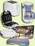 Castiga gratar electric, prajitor de paine, cafetiera, stepper si sandwich maker