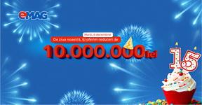 10 milioane de lei cadouri de ziua eMAG