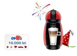 Câștigă 10.000 de lei și 20 espressoare Nescafe Dolce Gusto Piccolo Red