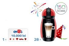 Castiga un voucher eMAG in valoare de 10.000 de lei si 28 de aparate Nescafe Dolce Gusto Picollo Red