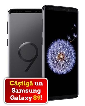 Câștigă un smartphone Samsung Galaxy S9