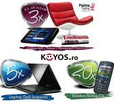 Castiga 3 kituri de lectura (tableta Dell, fotoliu, abonament EVZ), 5 laptopuri Dell Inspiron si 20 telefoane Nokia C3
