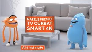 Câștiga un televizor SUHD Curbat Smart Samsung cu diagonala 123 cm,  5 mașini de spălat vase Beko și 50 becuri inteligente SmartCharge Bulb 9W