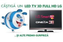 Castiga un televizor LG 3D si 10 memory stick-uri 4 GB