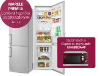Castiga o combinq frigorifica A+++ LG si 4 cuptoare cu microunde LG