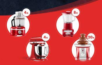 Câștigă 4 roboți de bucătarie KitchenAid, 4 mixere KitchenAid și 8 blendere KitchenAid