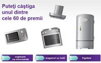 Castiga 48 cuptoare cu microunde Samsung, 6 frigidere Electrolux, 6 aragazuri Electrolux si 6 hote Heinner