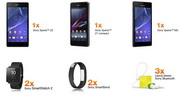 Castiga 3 smartphone Sony Xperia Z2/Z1/M2, 2 smartwatch Sony, 2 smartwear Sony, 3 casti Sony si 160 vouchere Orange
