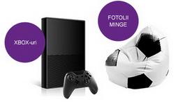 Castiga 4 console Microsoft Xbox 360 500 GB si 30 de fotolii minge Bean Bags