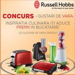 Castiga un blender, un toaster, un gratar electric sau o masina de tocat si feliat Russell Hobbs