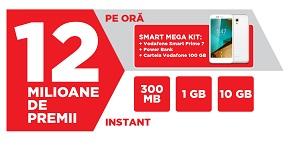 Castiga 780 smartphone Vodafone Smart Prime 7 si peste 12 milioane de premii bonus internet mobil Vodafone