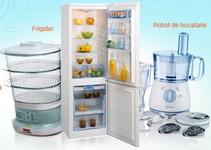 Castiga un frigider, un robot de bucatarie si un aparat de gatit cu aburi