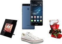 Castiga 2 x smartphone Huawei P9 Blue, 16 perechi Converse, 30 rame foto digitale si 60 kituri de Craciun Huawei