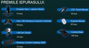 Castiga 15 console xBox 360 cu senzor Kinect si alte 345 premii Microsoft