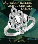 Castiga un inel din aur cu cristale La Rosa