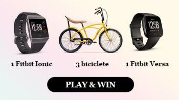 Câștigă 3 biciclete DHS, un ceas Fitbit Ionic și un ceas Fitbit Versa