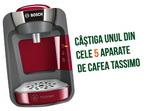 Castiga 5 espressoare Bosch Tassimo Suny si 122 premii constand in cafea Jacobs