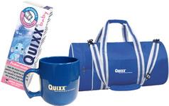 Castiga 45 kit-uri Quixx Baby formate din: o cana, o geanta si un spray Quixx Baby