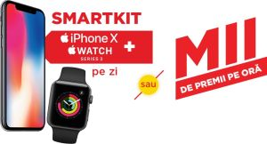 Câștigă 77 iPhone X 64GB, 77 Apple Watch Series 3 și alte 3.696 premii