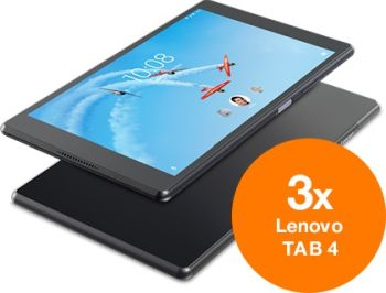 Câștigă 3 tablete Lenovo TAB 4 16GB LTE