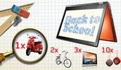 Castiga un scuter Vespa, 2 biciclete Cupper, 3 tablete Lenovo Yoga, 10 boxe Lenovo si alte 500 de premii