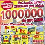 Castiga 1.000.000 de euro, 5.000 de euro sau alte 1.232 de premii