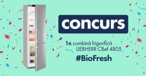 Câștigă o combină frigorifică Liebherr cu BioFresh