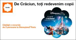 Câștigă 10 excursii la Disneyland Paris