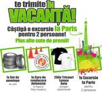 Castiga o excursie la Paris, un set de 4 anvelope si 200 de tricouri