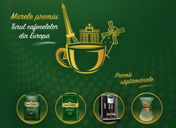 Câștigă un tur al cafenelelor din Europa, 50 espressoare Philips, 50 cafetiere Chemex și 4.000 pachete cafea Jacobs