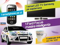 Castiga o masina Ford Focus Star Titanium, 8 televizoare Samsung LED si 56 telefoane Samsung I5800 Galaxy 3