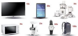 Castiga 10 televizoare Smart Ultra HD 4K, 20 tablete Samsung Galaxy Tab A si alte 288 de premii