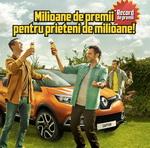 Castiga 9 masini Renault Captur si 2 milioane de PET-uri Bergenbier 2.5L