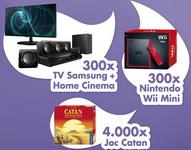Castiga 300 de televizoare Samsung, 300 de console Nintendo Wii Mini si 4.000 de jocuri Catan