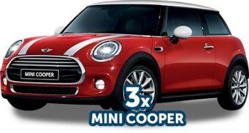 Câștigă 3 mașini Mini Cooper