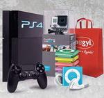 Castiga 5 camere video sport GoPro Hero 3+, 5 5 console PlayStation 4, 20 iPod Shuffle si 100 pachete cadou Mogyi