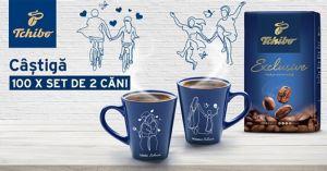 Câștigă 100 de seturi de cafea Tchibo Exclusive