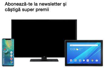 Câștigă un smartphone Huawei Mate 20 Pro, un televizor Smart TV JVC și o tabletă Lenovo TAB 4