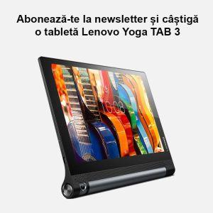 Câștigă o tabletă Lenovo Yoga TAB 3