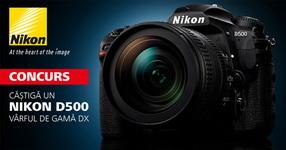 Castiga un aparat foto Nikon D500