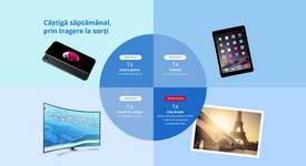Castiga un iPhone 7, un iPad Air 2, un televizor LED Curbat Smart Samsung si o vacanta de vis la Paris