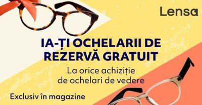 Lensa îți oferă ochelarii de rezervă cadou