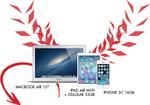 Castiga un laptop MacBook Air, un iPad Air si un iPhone 5C