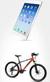 Castiga saptamanal un iPad Air, o bicicleta MTB, o bormasina Bosch, o troniteta Kettler si o pereche de tenisi Converse