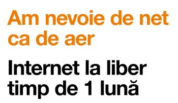 30 de zile internet nelimitat la liber pentru clienții Orange PrePay