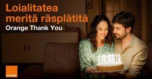 O lună de internet nelimitat cu ocazia zilei de naștere și bonusuri speciale prin Orange Thank You