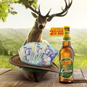 Câștigă 3.000 de lei în fiecare zi sau instant una din cele 2 milioane doze bere Ciucaș