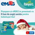 Castiga 12 premii constand in scutece Pampers pentru bebelusul tau timp de 6 luni