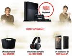 Castiga o consola PlayStation 4, boxe portabile, casti walkman 3 in 1 si smartphone-uri Sony
